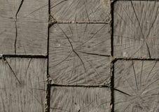 Fond des cabanes en rondins en bois carrées Photos stock