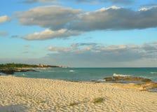 Fond des Caraïbes de coucher du soleil de plage Images libres de droits