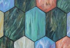 Fond des carreaux de céramique hexagonaux de différentes couleurs Image libre de droits