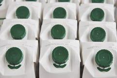 Fond des cartons de lait. Photos libres de droits