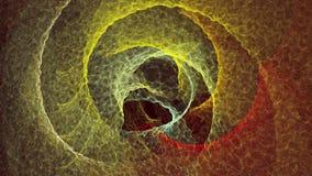 Fond des cercles abstraits dans des couleurs jaunes et rouges illustration stock