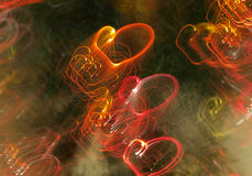 Fond des coeurs abstraits Photo libre de droits