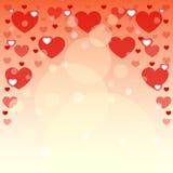 Fond des coeurs pour des cartes postales Le jour de Valentine Illustration de vecteur Photo libre de droits
