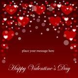 Fond des coeurs pour des cartes postales Le jour de Valentine Illustration de vecteur Image stock