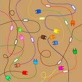 Fond des conducteurs électriques Image libre de droits