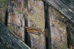 Fond des conseils en bois putréfiés Photos stock
