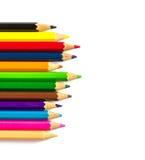 Fond des crayons de couleur Photo libre de droits