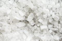 Fond des cristaux de sel brut photographie stock libre de droits