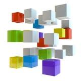 Fond des cubes Photographie stock