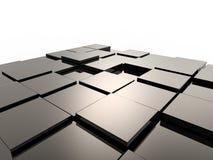 Fond des cubes métalliques Images stock