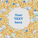 Fond des enveloppes de courrier Images libres de droits