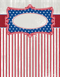 Fond des Etats-Unis avec une étiquette décorative, vecteur illustration stock