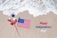 Fond des Etats-Unis de Jour de la Déclaration d'Indépendance avec le drapeau Photographie stock