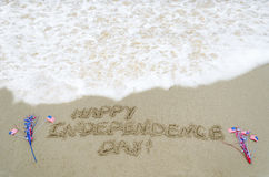 Fond des Etats-Unis de Jour de la Déclaration d'Indépendance avec le drapeau Images libres de droits