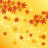 Fond de feuilles d'automne Images libres de droits