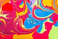 Fond des filets colorés de l'émail Photographie stock libre de droits