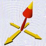 fond des flèches 3d Image stock