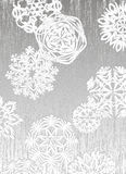 Fond des flocons de neige Photos libres de droits