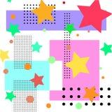 Fond des formes géométriques colorées et des étoiles illustration libre de droits