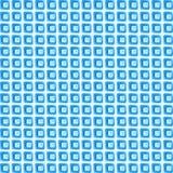 Fond des fragments bleus du verre Photos stock