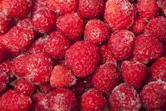Fond des fraises surgelées Images libres de droits