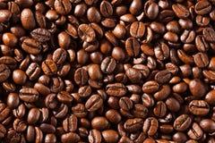 Fond des graines de café frites macro Photographie stock