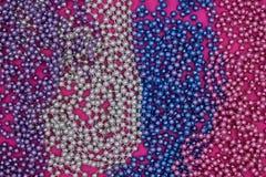 Fond des guirlandes multicolores de Noël Vue supérieure photographie stock libre de droits