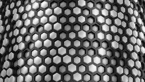 Fond des hexagones clips vidéos