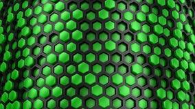 Fond des hexagones banque de vidéos