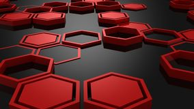 Fond des hexagones illustration de vecteur