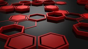 Fond des hexagones illustration libre de droits