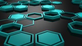 Fond des hexagones illustration stock