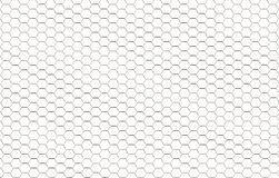 Fond des hexagones blancs. Photo stock