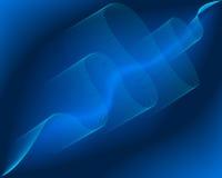 Fond des lignes abstraites bleues d'onde Photos stock