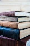 Fond des livres Les livres se ferment vers le haut Images stock