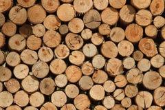 Fond des logarithmes naturels secs de bois de chauffage photo libre de droits