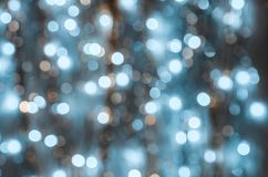 Fond des lumières fortement brouillées des guirlandes photo stock