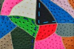Fond des morceaux en cuir Photo libre de droits