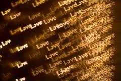 Fond des mots AMOUR Image stock
