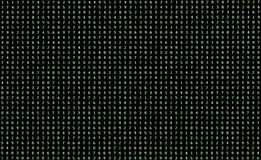 Fond des nombres verts de 0 à 9 sur un moniteur d'ordinateur image libre de droits