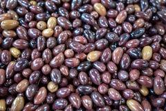 Fond des olives organiques étroitement  image stock