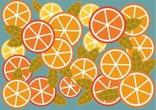 Fond des oranges et des citrons Photos stock