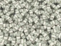 Fond des paquets de dollar. 3d illustration stock