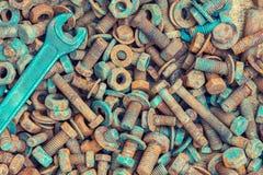 Fond des pièces et des outils Images libres de droits