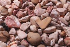 Fond des pierres de mer dans un plan uniforme Image stock