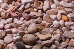 Fond des pierres de mer dans un plan uniforme Photographie stock libre de droits