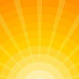 Fond des rayons de The Sun - illustration Image libre de droits