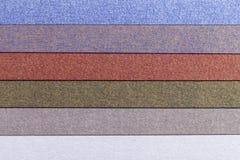 Fond des rayures brillantes horizontales de parallèle coloré de papier images libres de droits