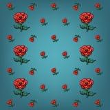 Fond des roses de différentes tailles Photographie stock