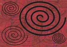 Fond des spirales Image libre de droits
